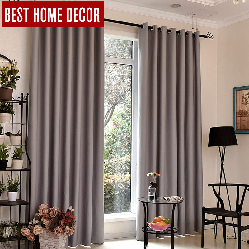 BHD Modern Blackout Curtains For Window Treatment Blinds Finished Drapes  Window Blackout Curtains For Living Room