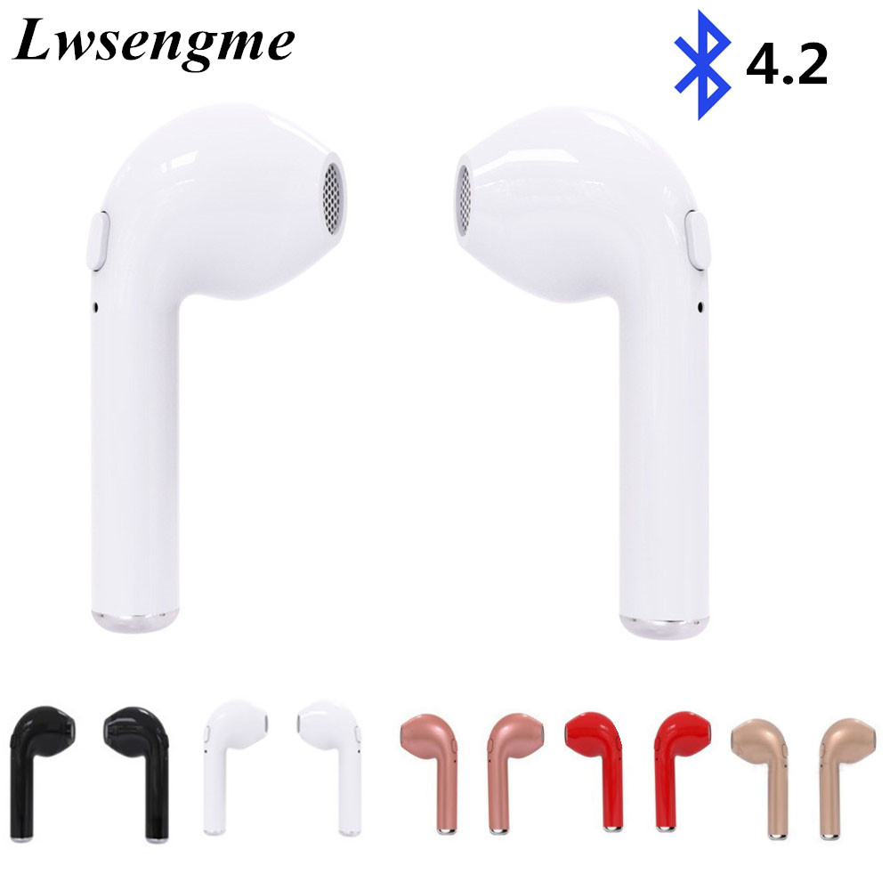 HBQ i7 TWS Twins true Wireless Bluetooth V4.2 EDR Earbuds Mini Earphone Stereo Sports music Headset for IPhone Android Xiaomi remax 2 in1 mini bluetooth 4 0 headphones usb car charger dock wireless car headset bluetooth earphone for iphone 7 6s android