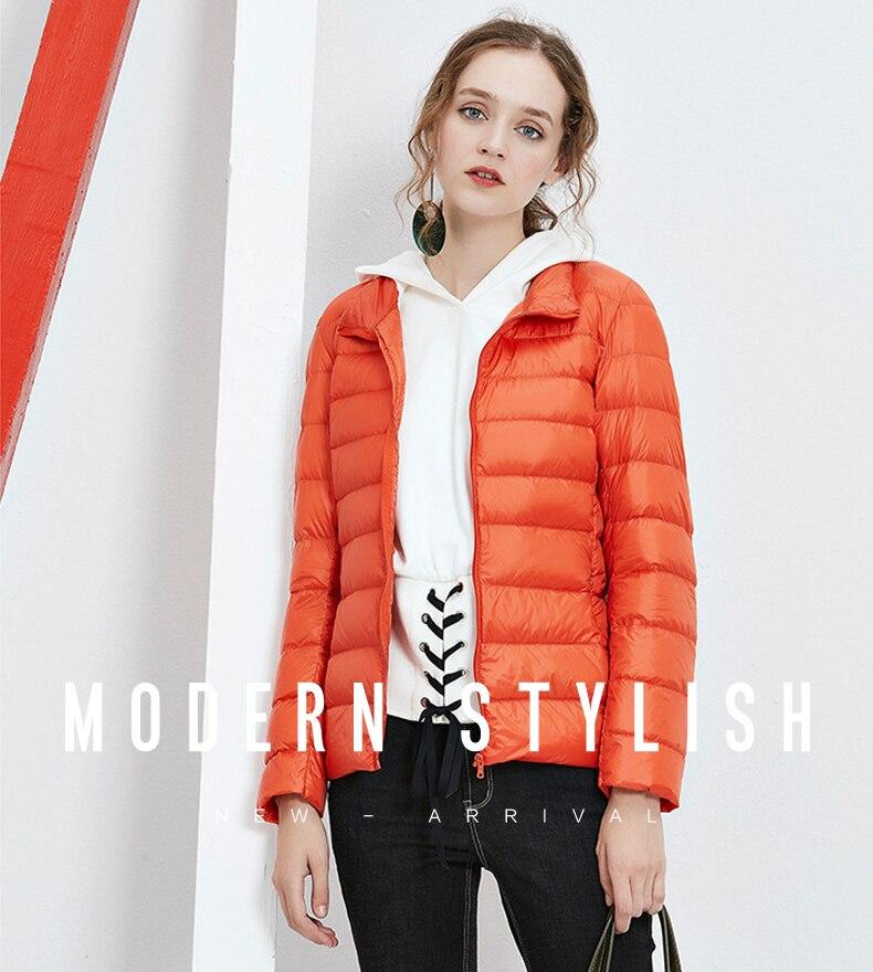 1109dfd17c15c6 ... Stoisko kołnierz kobiety dół kurtka zima 90% kaczka dół płaszcz ultra  lekkie znosić przenośny ciepły ...