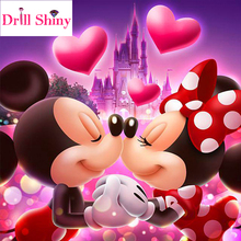 DIY diamante pintura punto de cruz Disney mouse pareja completo cristal cuadrado diamante bordado mosaico Navidad Minnie Mickey regalo