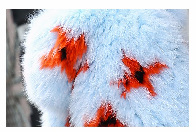 2016 New Arrival 100% Natural Fox Fur Knitted Coat With Hood,Women's Real Fox Fur Outerwear Hooded BE-1663 EMS Free Shipping 9