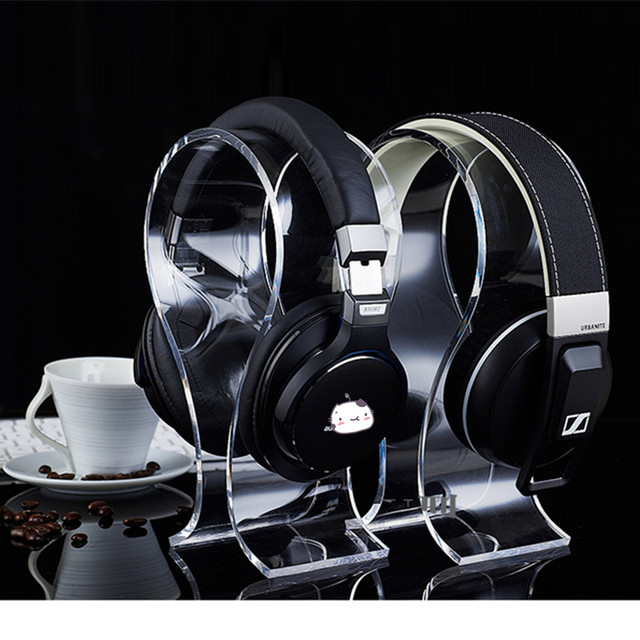 Suporte de auscultadores do Fone de ouvido fone de Ouvido Suporte U-tipo de Exibição do Fone De Ouvido Fone De Ouvido fone de Ouvido Fone De Ouvido Acrílico Display Stand Titular