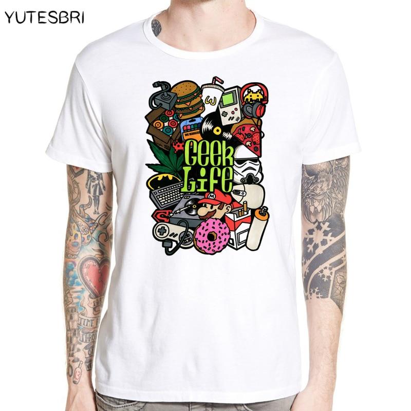 Highly Cool Geek Life Men T Shirt Free Shipping Worldwide