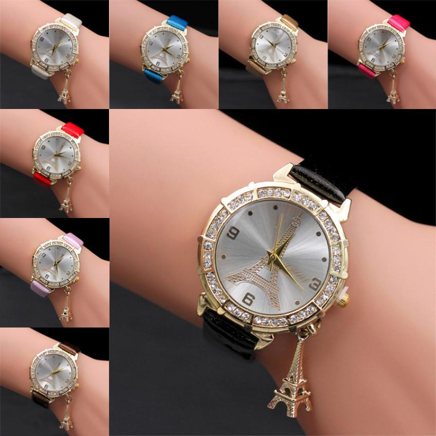 1218 Damenuhren Edelstahl Armband Uhren Frauen Kristall Quarz Armbanduhr Uhr Weibliche Damen Kleid Uhr Gold Bajan Kol Saati