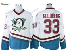 DUEWEER Mens Vintage Greg Goldberg Mighty Ducks Film Hockey Jerseys  Goedkope Wit  33 Greg Goldberg 1a2bc518a