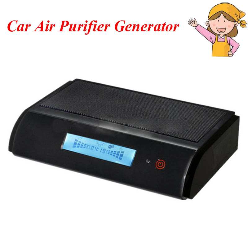 цена 1pc Car Air Purifier Generator HEPA Activated Carbon Photocatalysis UV Anion Ozone Air Filter GL-518