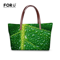 Famous Brand Women Casual Bag Green Plant Pattern Fashion High Quality Women Totes Handbags Large Shoulder Bags Bolsas Femininas