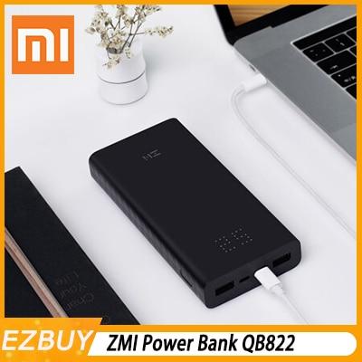 Xiaomi powerbank Z mi batterie externe 20000 mAh charge rapide QC3.0 Xiao mi batterie 20000 mah QB822 pour chargeur iPhone