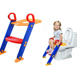 Bebé orinal asiento de entrenamiento de los niños baño bebé asiento ajustable con escalera de baño formación asiento plegable taburete de paso