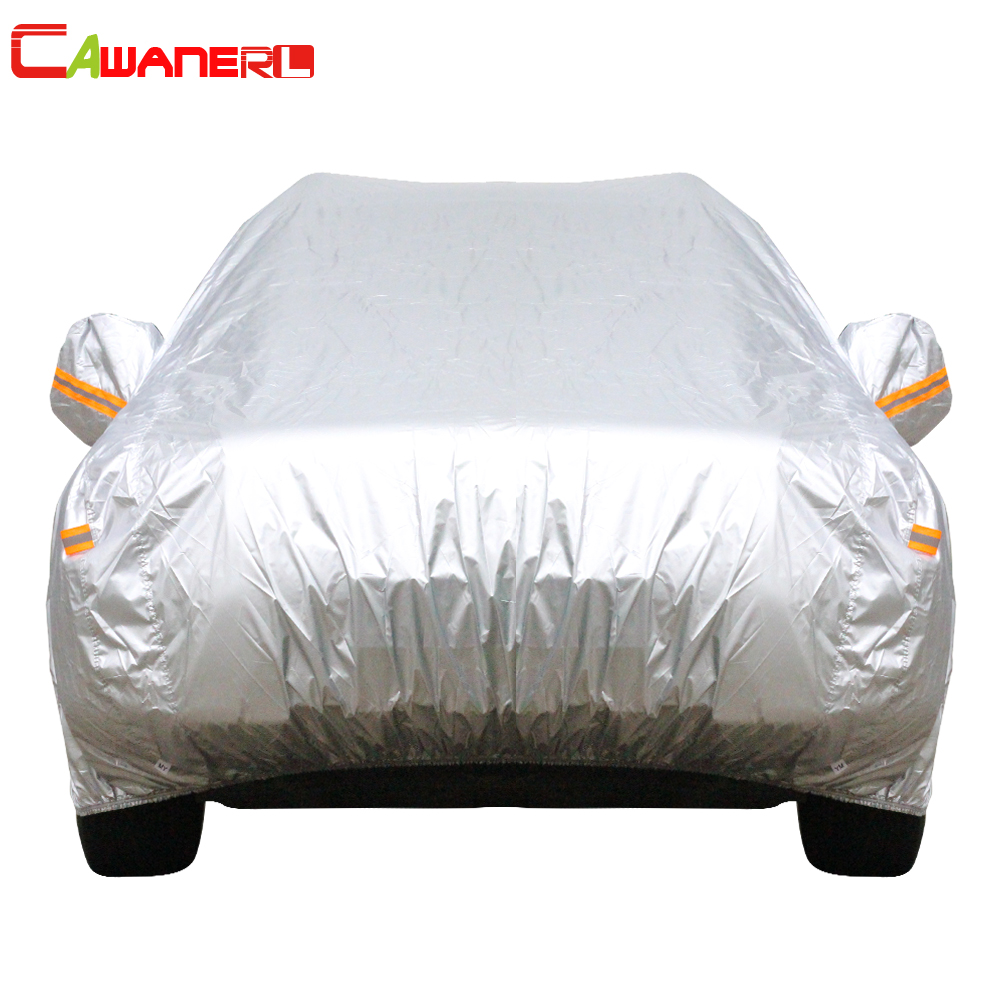 Cawanerl 13 Size Waterproof Car Cover SUV Auto Sedan Hatchback Sun Rain Frost Snow Dust Protection Anti UV Cover Car Accessories buildreamen2 car cover waterproof suv anti uv sun shield snow hail rain dust protective cover for gmc terrain acadia envoy yukon