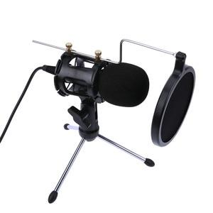Image 4 - Профессиональный портативный Настольный конденсаторный Держатель для микрофона Штатив для iPhone Macbook компьютера ПК микрофоны