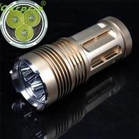 Super 6000 LM 3x XM L T6 LED 18650 Tactical Flashlight Torch Hunting Lamp Light 170130