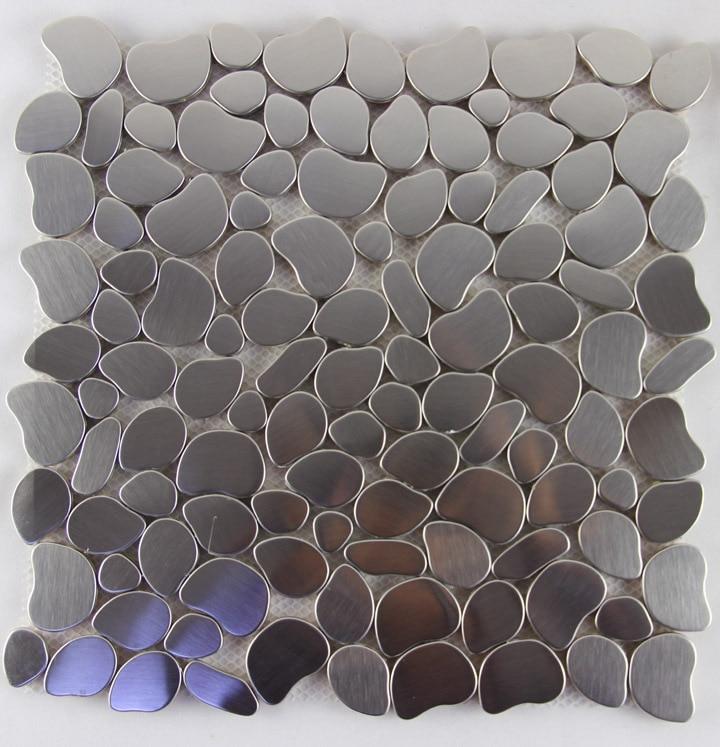 Buy irregular metal mosaics stainless for Tile fashion