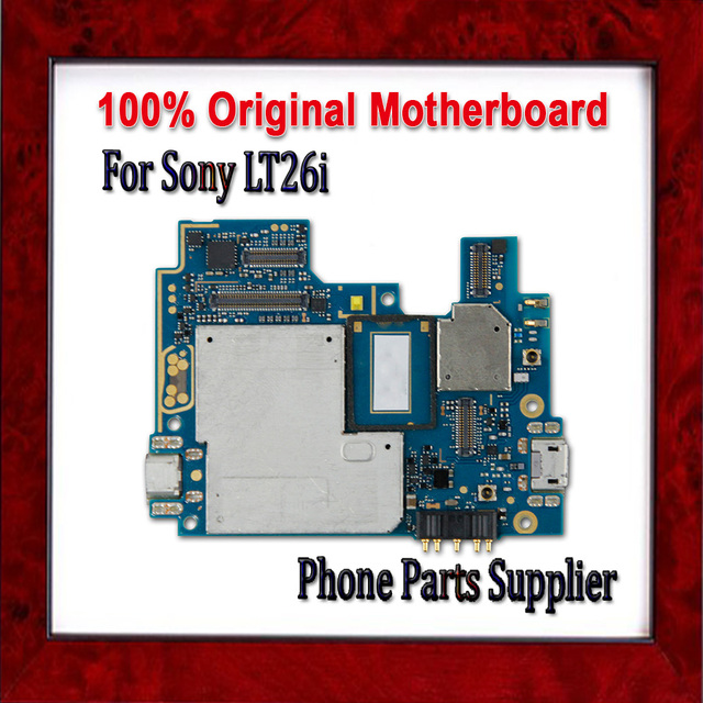 US $30 0 |100% Original Unlocked LT26i Motherboard,Mainboard Replacement  For Sony Xperia S LT26i Motherboard with Chips,Good Working-in Mobile Phone