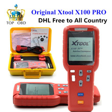 ГОРЯЧАЯ!!! оригинал xtool x100 pro auto key программист x100 + обновление версия x100 pro ключевые программист с eeprom адаптер dhl свободная