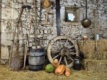 Casa Da exploração agrícola Do Celeiro photo studio Computador impresso pano de fundo de Vinil de Alta qualidade partido foto cenário