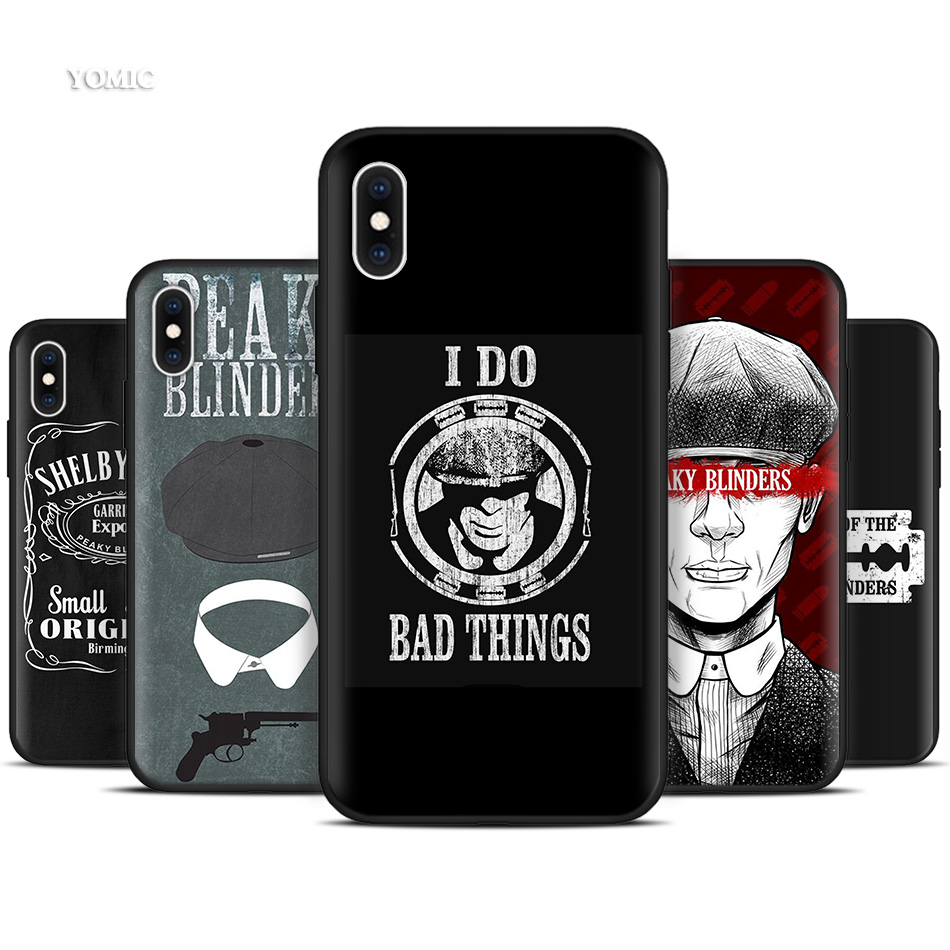 <font><b>Silicone</b></font> Black Coque <font><b>Case</b></font> for <font><b>iPhone</b></font> 11 Pro XR X XS MAX 7 8 6 <font><b>6S</b></font> Plus 5 5S SE 5C 7Plus 8Plus Phone Peaky Blinders Cross <font><b>Logo</b></font> image