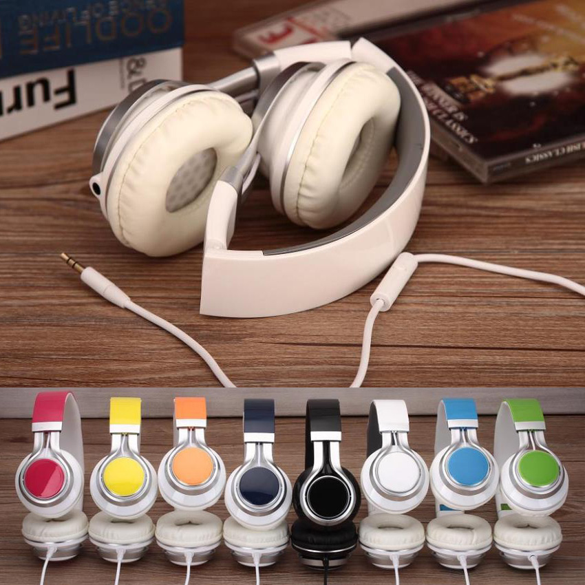 TOPROAD Wired Mobile Phone Headphone Stereo Foldable Headset Earphone 3.5MM Earphones Head Phone for iPhone MP3 Game Computer 1