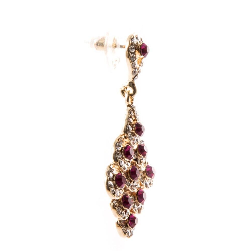 4.2 cm Crystal Bride Drop Earings Vintage Wedding Earrings Gold Top Quality Brinco Statement Jewellery Brincos Mujer Ohrringe