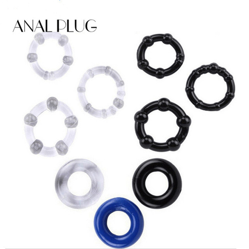 3Pcs/Set AUEXY Cock Ring Penis Sleeve Sex Products Silicone Sex Toys For Men Male Penis Ring Delay Ejaculation