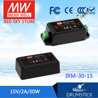 100% Original MEAN WELL IRM-30-15 15V 2A meanwell IRM-30 15V 30W PCB mounting style [Hot1]