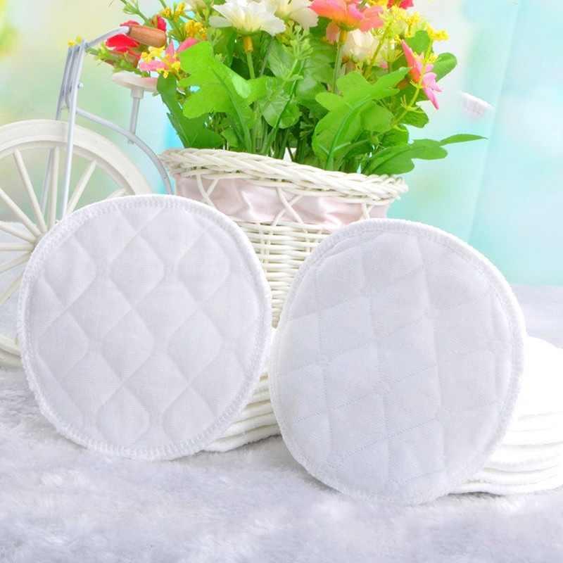 2/12 piezas almohadillas de lactancia para pecho reutilizables lavable suave absorbente lactancia materna bebé impermeable almohadillas 3 capas de algodón puro A1A66