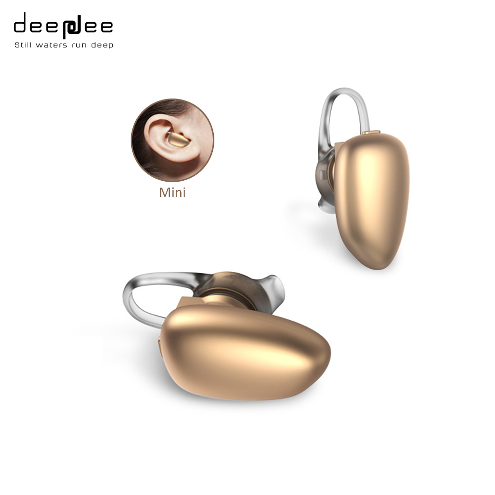 DEEPDEE Wireless Bluetooth Mini Earphone Small Colorful Music Noise Cancelling HIFI  Headset with HD Microphone for Mobilephone sports bluetooth headset wireless handsfree earphone noise cancelling voice command earphone with microphone running hd music