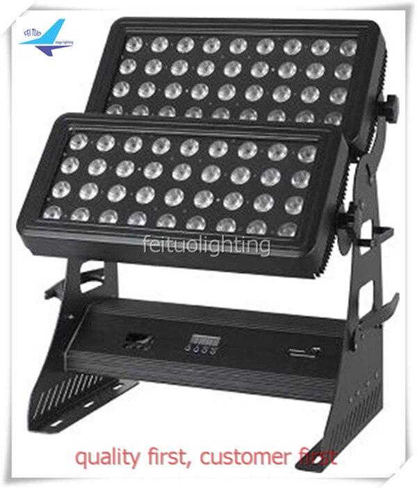 O- 4pcs/lot 72x10w Waterproof Outdoor Led Wall Washer Light DMX512 DJ Disco for Xmas Party Nightclub Bar