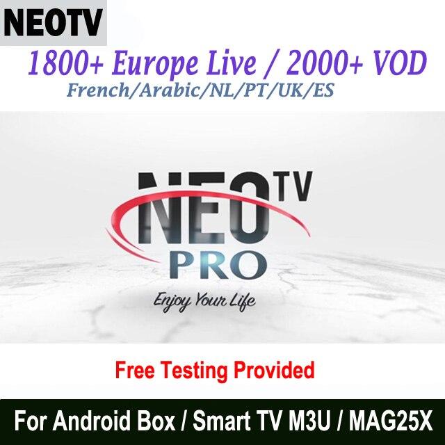 12 месяцев NEO IPTV, французский арабский голландский африканские каналы NEO tv PRO H.265 HD Европейский ТВ подписка-in ТВ-приставки и медиаплееры from Бытовая электроника on AliExpress - 11.11_Double 11_Singles' Day