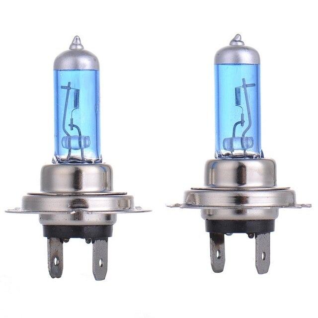 LED لمبة الإضاءة السيارات الدراجات النارية 90 واط DC12V سوبر الأبيض الكوارتز الزجاج الأزرق المصباح مصباح لمبات الضباب أضواء التصميم