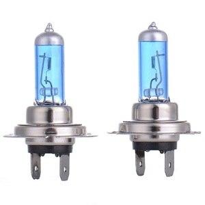 Image 1 - LED הנורה תאורה אופנועי 90W DC12V סופר לבן קוורץ זכוכית כחול פנס מנורת נורות ערפל אורות סטיילינג