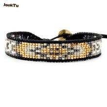 Стиль Черный Серебряный смешанный серый бисер браслет с одним обручем