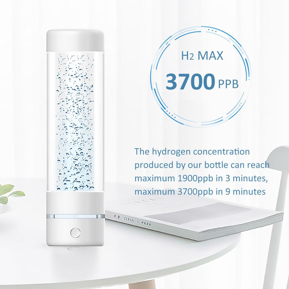 The 5th Generation Max 3700ppb SPE&PEM High hydrogen concentration hydrogen water bottle and Minimal hydrogen water generator