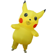 Cute Pikachu Cosplay Costumes Carry Back Men Clothes Inflatable Garment Novelty Toys Halloween Party Fun Dress Disfraz