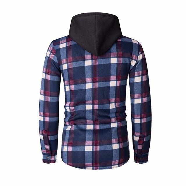 ZOGAA New Style Hoodies Men Plaid Hoodie Fashion Streetwear Hoody Sweatshirt For Men Clothing 2018 Long Sleeve Hooded Top 3