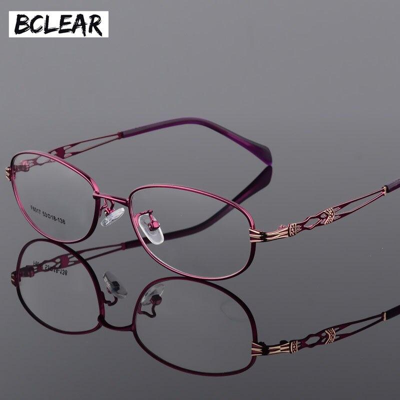 BCLEAR Fashion Vintage Women Eye Glasses Frames Lady Metal Spectacles Clear Lens Optical Eyeglasses Frame Female Retro Classic