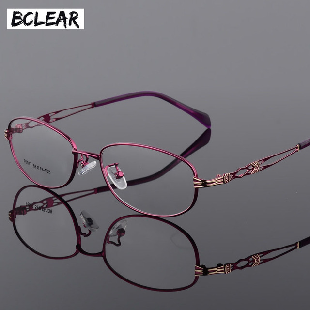 BCLEAR Fashion Vintage Women Eye Glasses Frames Lady Metal Spectacles Clear Lens Optical Eyeglasses Frame Female Retro Classic