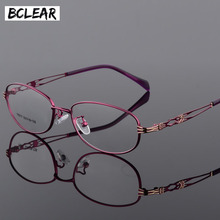 BCLEAR แฟชั่นผู้หญิงวินเทจกรอบแว่นตา Lady โลหะแว่นตา Clear เลนส์กรอบแว่นตาหญิง Retro Classic