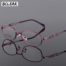 BCLEAR moda Vintage kobiety oko ramki okularów Lady metalowe okulary przezroczyste soczewki okulary optyczne rama kobieta retro classic