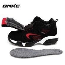 Onke zapatillas меховой водонепроницаемые зимняя снег обуви теплый кроссовки спорт мужчин