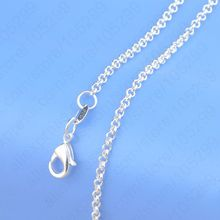 "1PC Retail Real 925 Sterling Silver Pearl Necklace With Flexible Lobster Clasps 16""-30"" For Choice Cross Chains(China)"