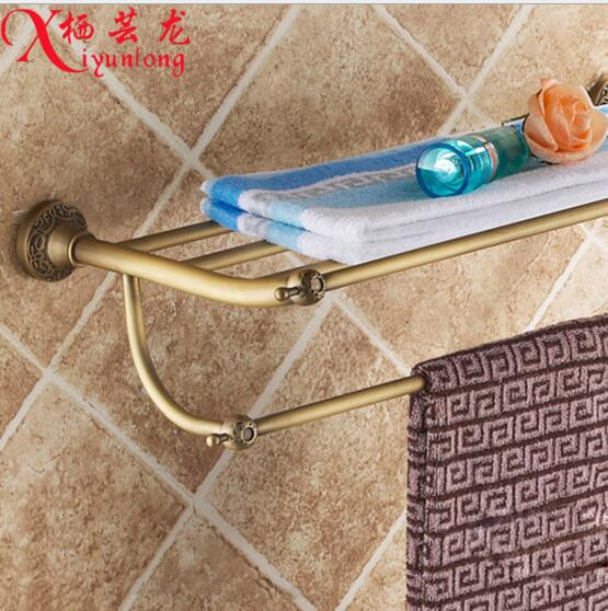 ФОТО Bathroom accessories factory wholesale antique carved 100% copper bathroom towel rack bath shelf placement pajamas free shipping