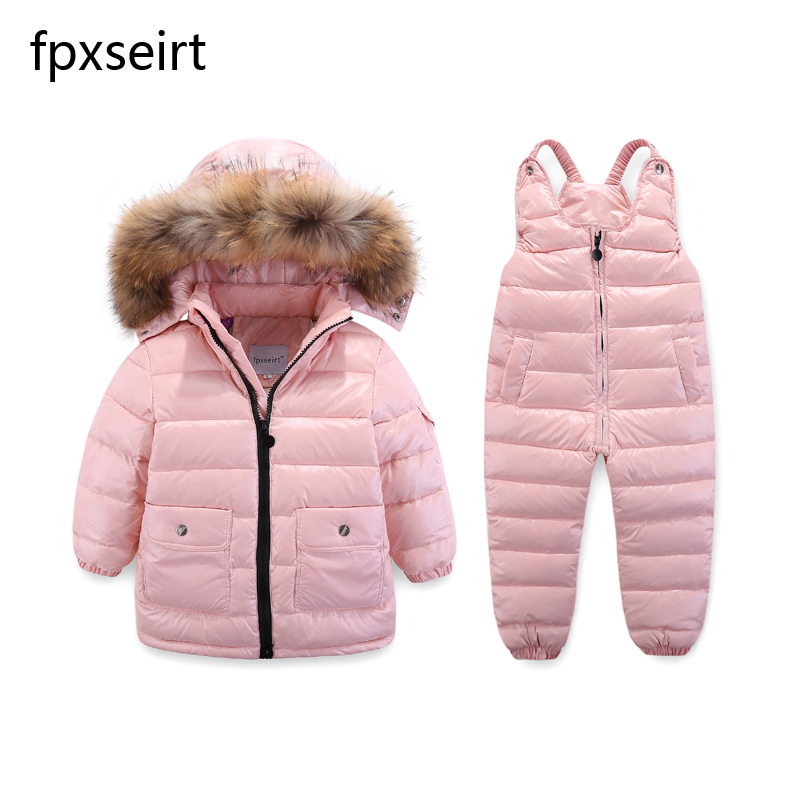3d10f8a4f Children s Clothing Winter Jacket For Girls Boys White Duck Down ...
