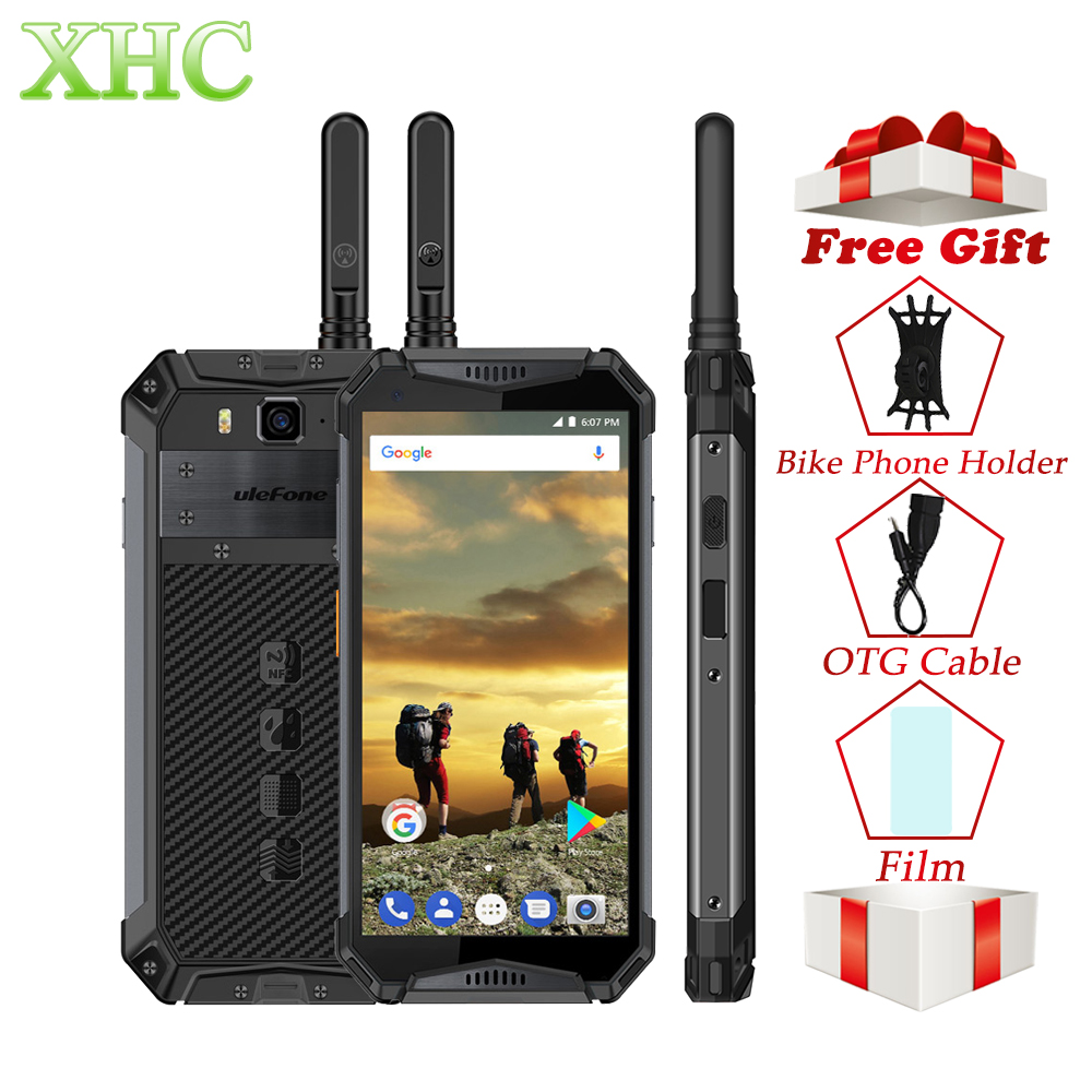 Ulefone Armatura 3 t 5.7 ''IP68/IP69K Impermeabile Del Telefono Mobile Helio P23 Octa Core NFC 4 gb 64 gb Walkie Talkie Dual SIM Smartphone