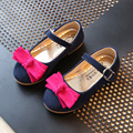 Princess Girls Shoes Girls Sandals 2017 New Spring Summer Bow Flat Fashion Girls Single Shoes Chaussure Enfant Dance Kids Shoes