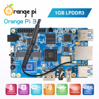 Orange Pi 3 H6 1GB LPDDR3 Gigabyte Ethernet Port AP6256 WIFI BT5.0 4*USB3.0 Support Android 7.0, Ubuntu, Debian
