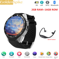 S99C PK LEM5 Pro Smart Watch Android 5.1 OS 2GB Ram 16GB Rom MTK6580 Quad Core 3G GPS Wristwatch 1.39 Heart Rate Pedometer