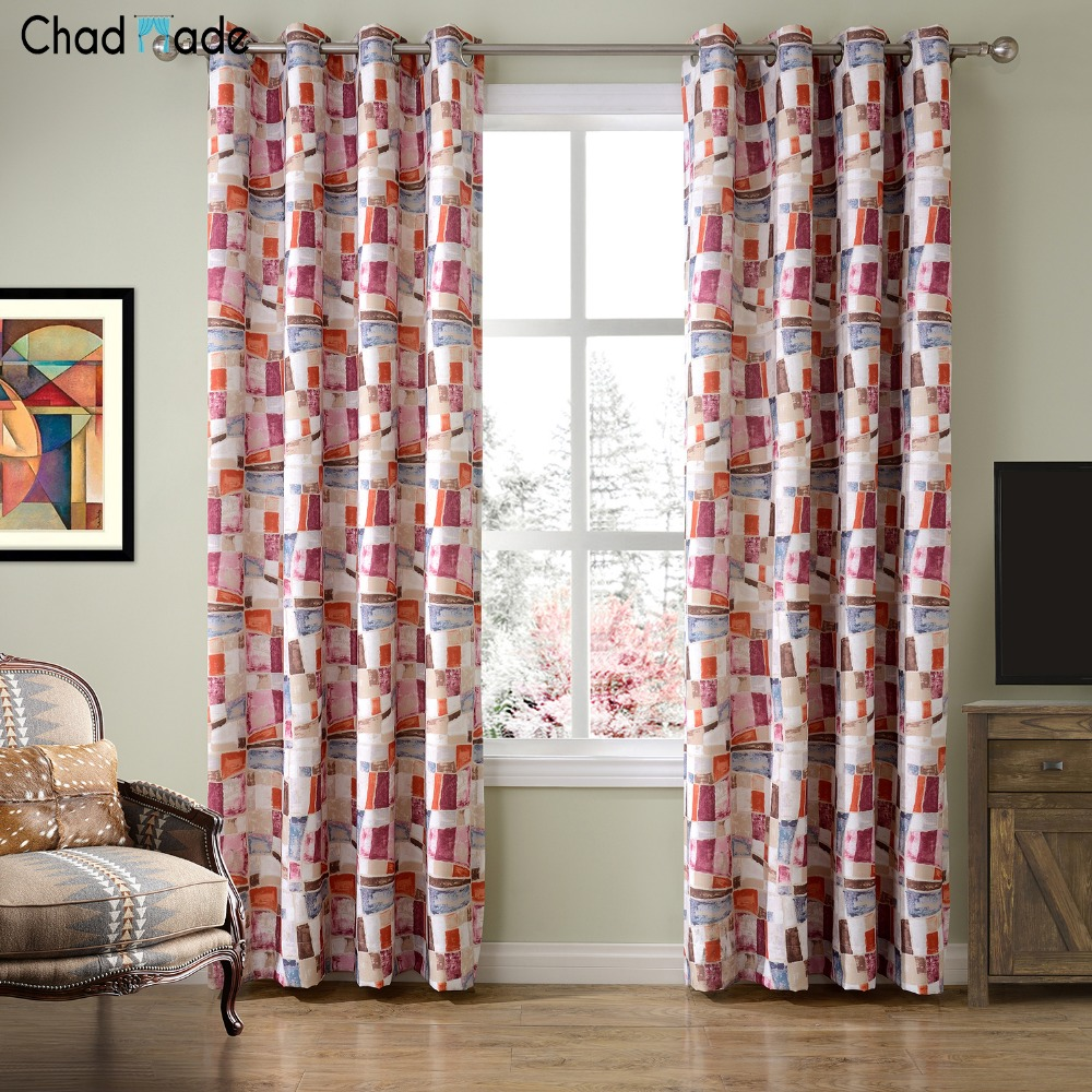 Printed curtains living room - Chadmade New Arrival Luxurious Window Curtain Cloth For Living Room Pattern Printed Curtain Drape Blackout 8341b