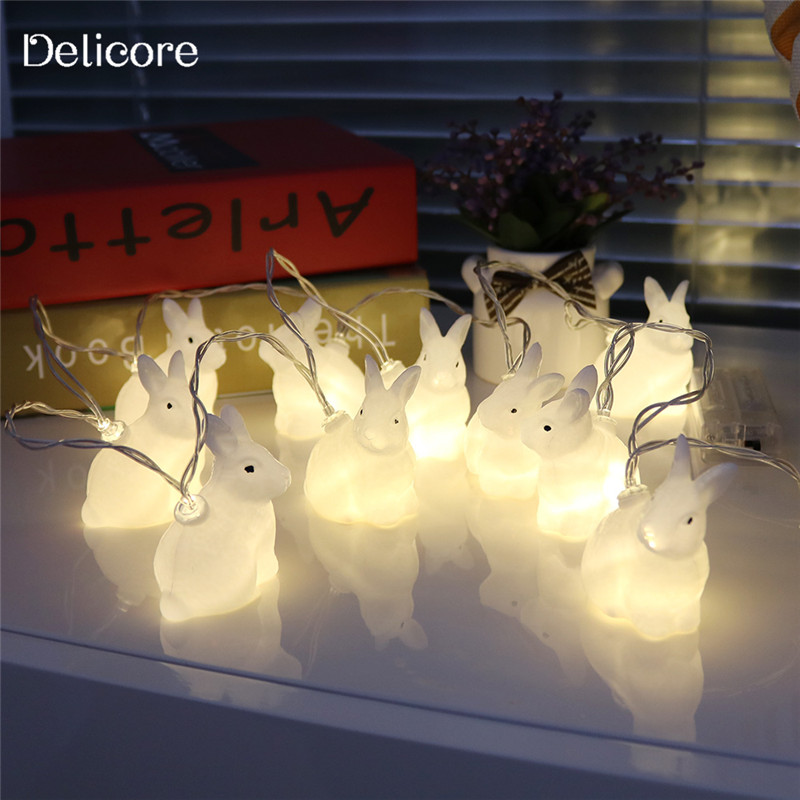 DELICORE2017 Hot Selling 1.65M White Rabbit LED String