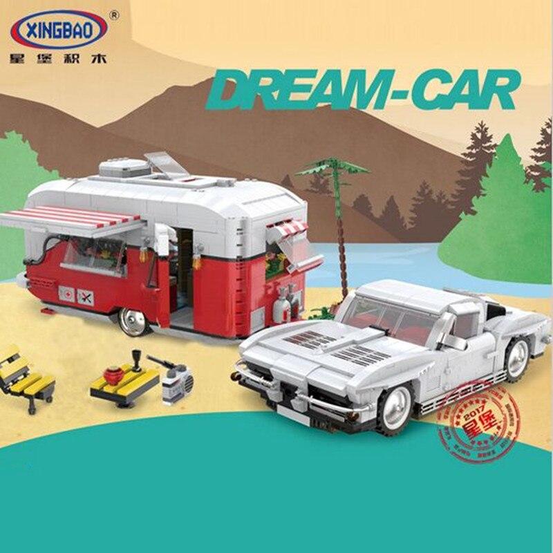 W magazynie XingBao 08003 2436 sztuk nowa seria kreatywna MOC Camper zestaw dzieci edukacyjne klocki klocki zabawki modelu w Klocki od Zabawki i hobby na  Grupa 3